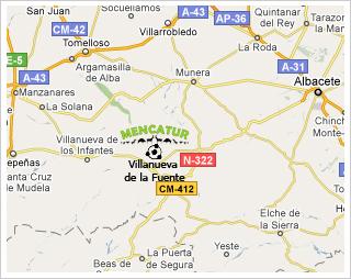 Plano de localización la Feria Mencatur, Villanueva de la Fuente